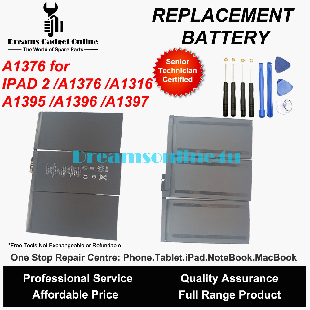 OEM New Battery For Apple iPad 2 A1376 A1395 A1395 A1397 A1316 6930mAh