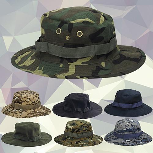 df5e87e7e96 Unisex Woodland Fishing Hiking Travel Military Sun-proof Camo Boonie Hat Cap