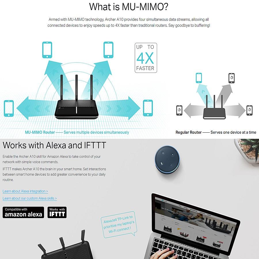 TP-LINK Archer A10 AC2600 Dual Band MU-MIMO 5GHz Gigabit Wireless