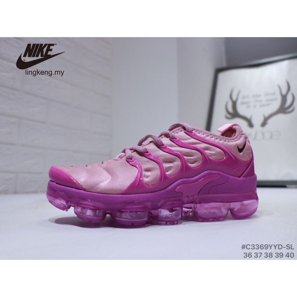 sports shoes ec777 f39b8 NIKE Air Vapormax Plus Breathable Women Cushioned Pink Running GYM Sports  Shoes