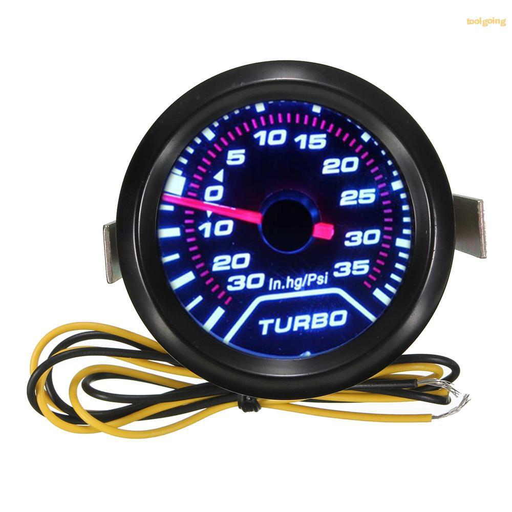 "Blue Red Turbo Boost 2/"" 52mm Vacuum Car Digital LED Light Gauge Meter Universal"