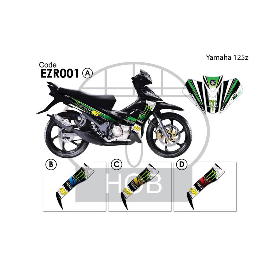 Yamaha 125z Special Sticker Stripe Shopee Malaysia