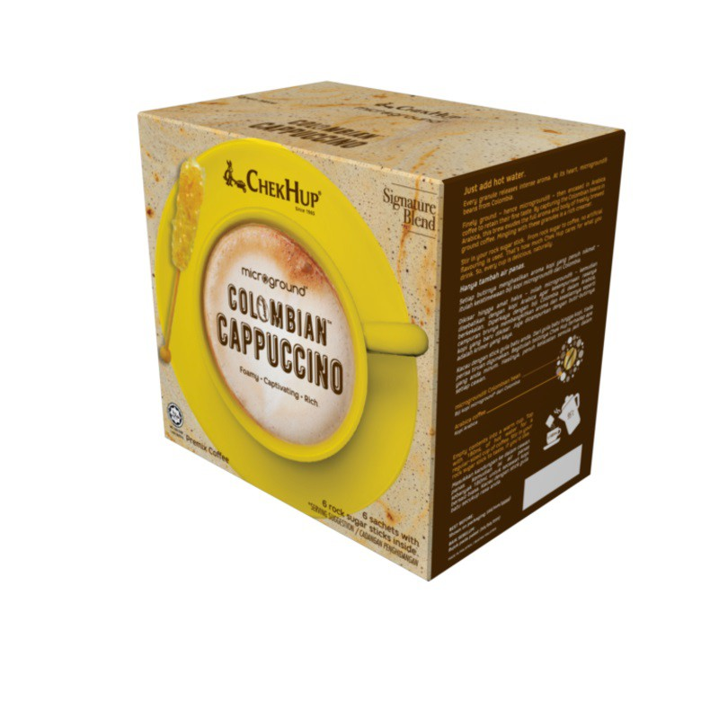 Chek Hup Microground Colombian Cappuccino (28g x 6s) [Bundle of 8]