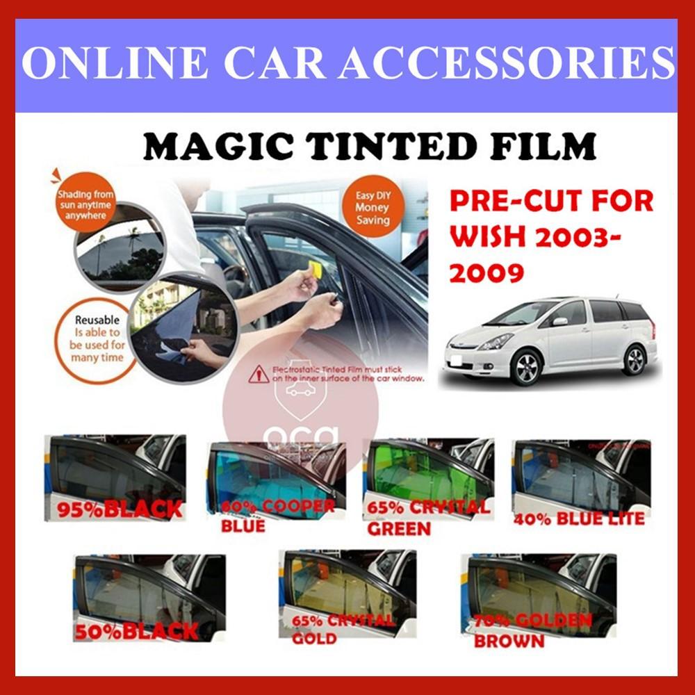 Toyota Wish 03-09 - Pre-Cut Shape Magic Tinted Solar Tinted (4 Windows & 2 Triangle /4 Windows+Rear)