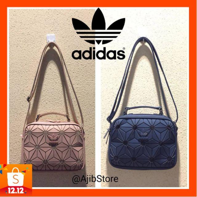 5d079ad14679 100% Original Adidas 3D Mesh Sling Bag x Issey Miyaki colourful Size:17x  23x7cm