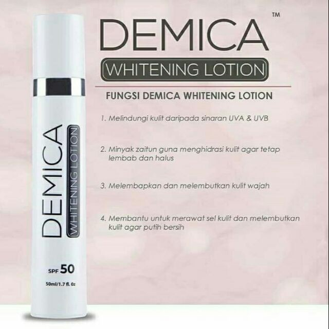 DEMICA WHITENING LOTION 50ML 100% ORIGINAL HQ+FREEGIFT