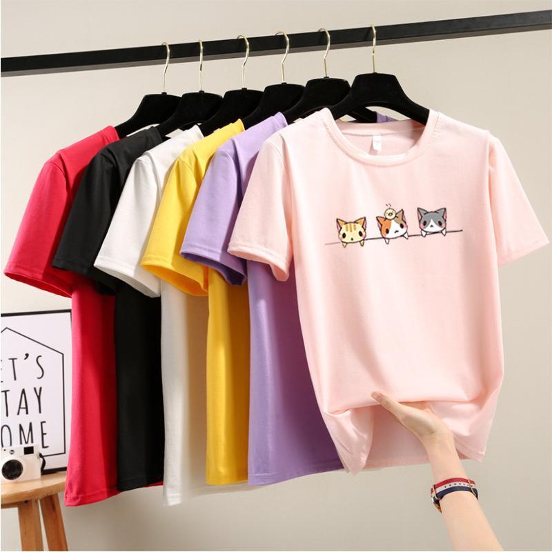 T Shirt Ladies 3 Cats T-shirt T-恤 三只小猫 T0003