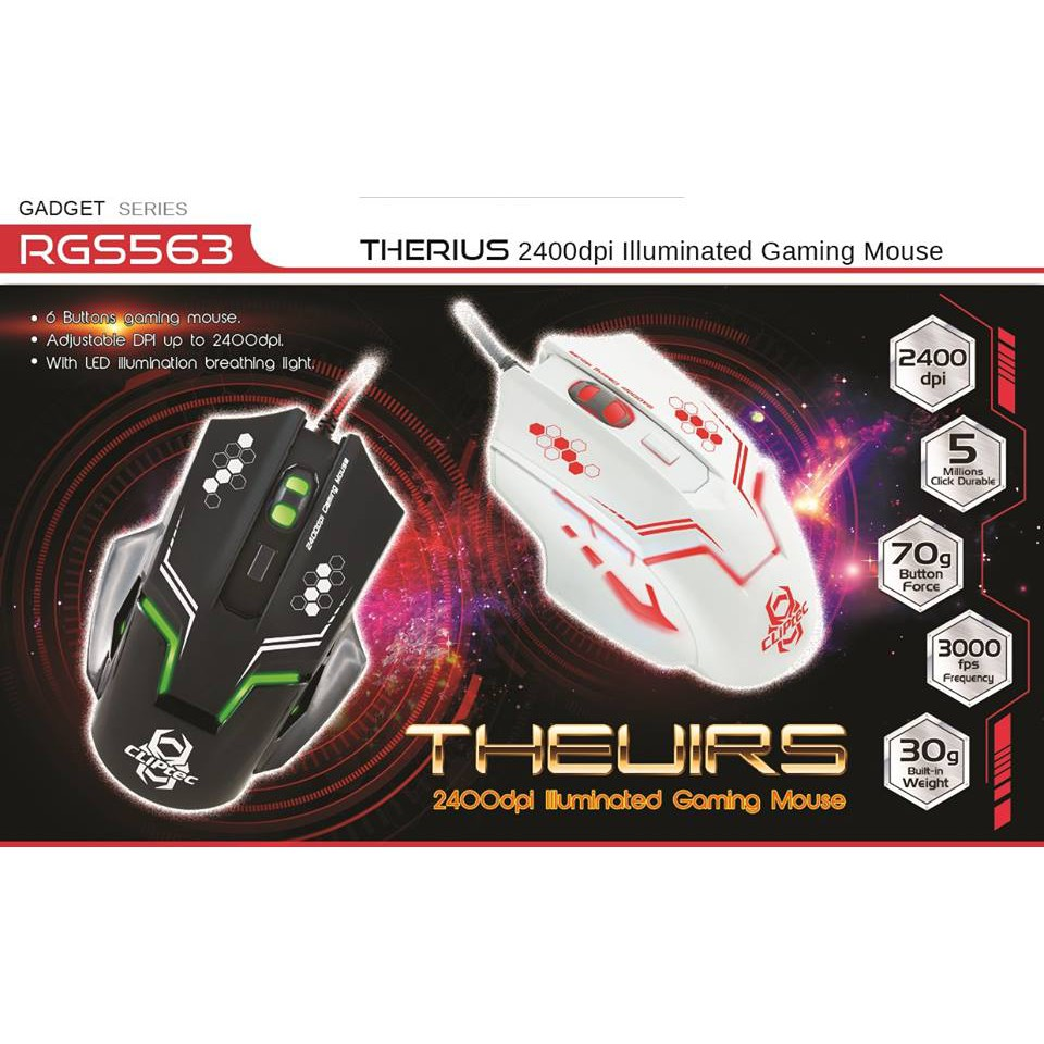 Cliptec Rgs 563 Therius Illuminated Gaming Mouse 2400dpi M110 Rechargeable Wireless 1600dpi Black White Shopee Malaysia