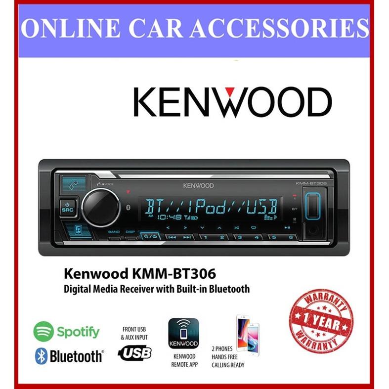 Kenwood KMM-BT306 USB Receiver Car Player Built In Bluetooth/USB Spotify Control With 13 Band EQ