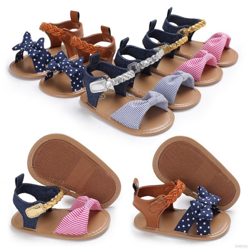 Summer Infant Baby Girl Flip-flop Sandals Soft Shoes Anti-slip Prewalker 0-12M