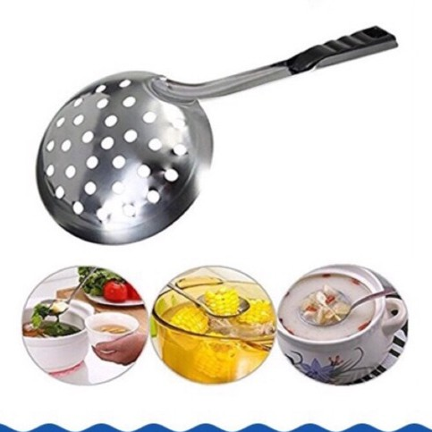 Stainless Steel Slotted Ladle Kitchen Cooking Tools Long Handle