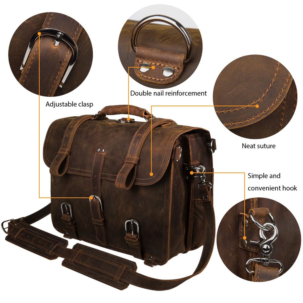Large New Mens Black Backpack Nylon Shoulderbag Crossbody Briefcase Office Bag