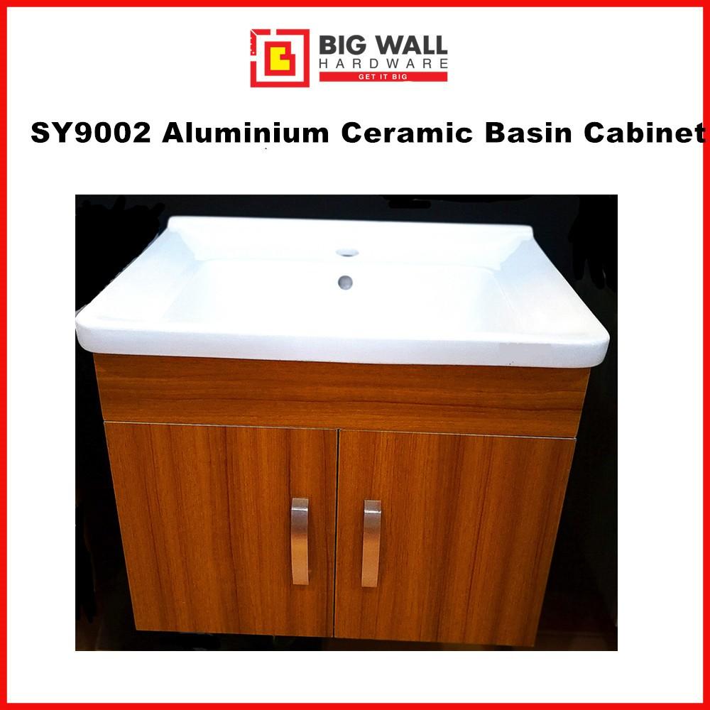 SY9002 Aluminium Ceramic Basin Cabinet (610mm x190mm x 490mm)