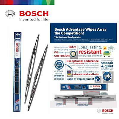 "BOSCH Advantage Wiper Blade for (20""+16"") Value set"