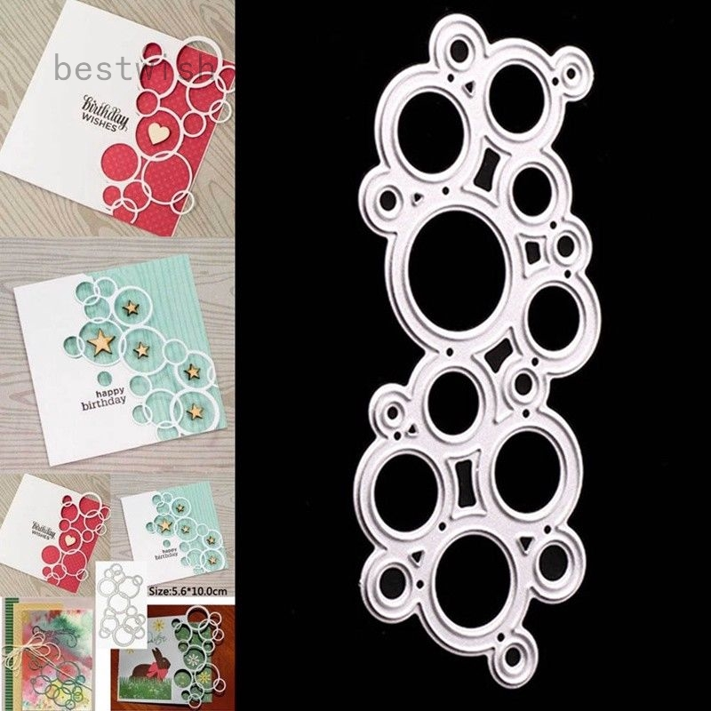 1PC Bubble Frame Metal DIY Cutting Dies Stencil Scrapbooking Embossing Craft