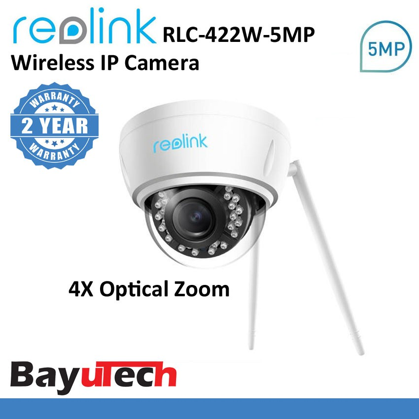 Autofocus Night Vision Reolink 5MP Wireless Security IP Camera 4X Optical Zoom Indoor Outdoor 2.4//5Ghz Dual Band WiFi Camera RLC-422W