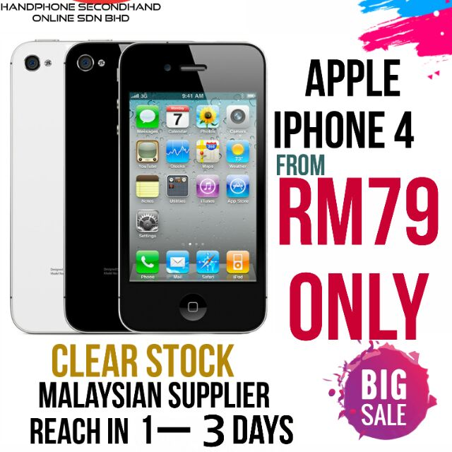 APPLE IPHONE 4 (SUPER CHEAP) FAST DELIVERY , MALAYSIA STOCK