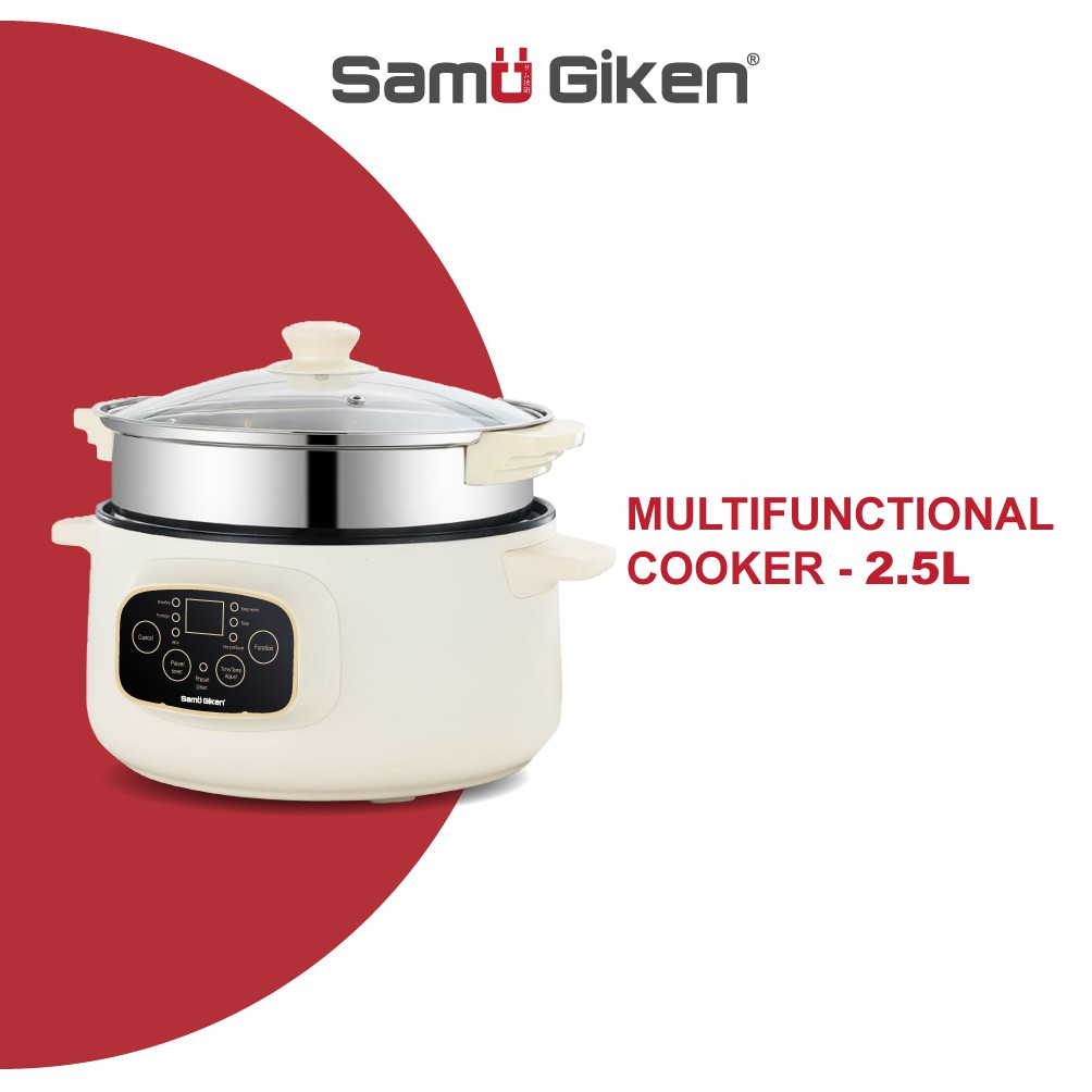 Samu Giken Smart & Multifunction Electric Digital Cooker Pot Non-Stick Pan 351WT/252WT