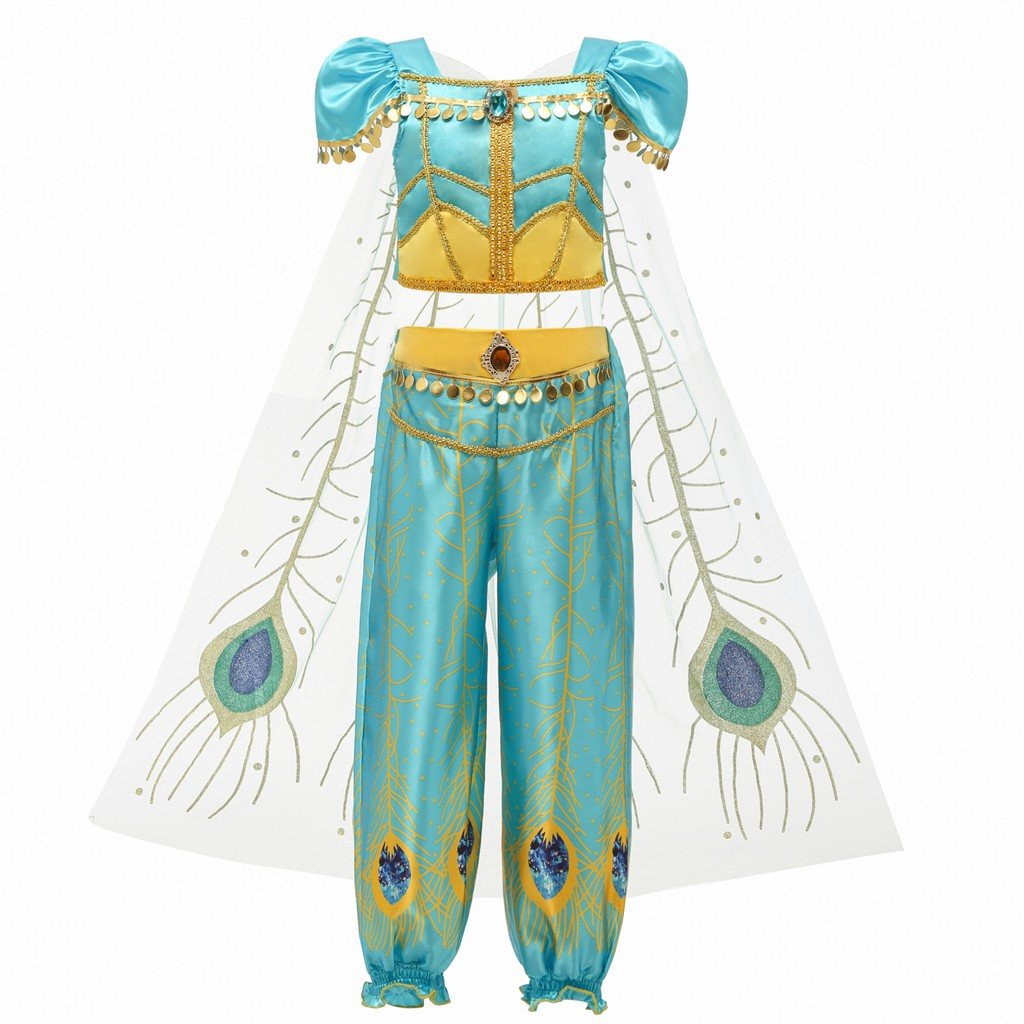 Aladdin Princess Jasmine Ladies Cosplay Costume Fancy Dress Complete Outfit Gift