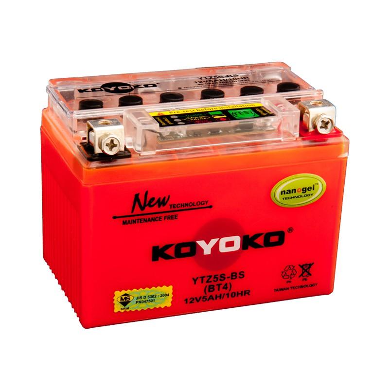 KOYOKO Battery YTZ5 / YTZ5S-BS for Yamaha 135LC, L115Z, Honda EX5