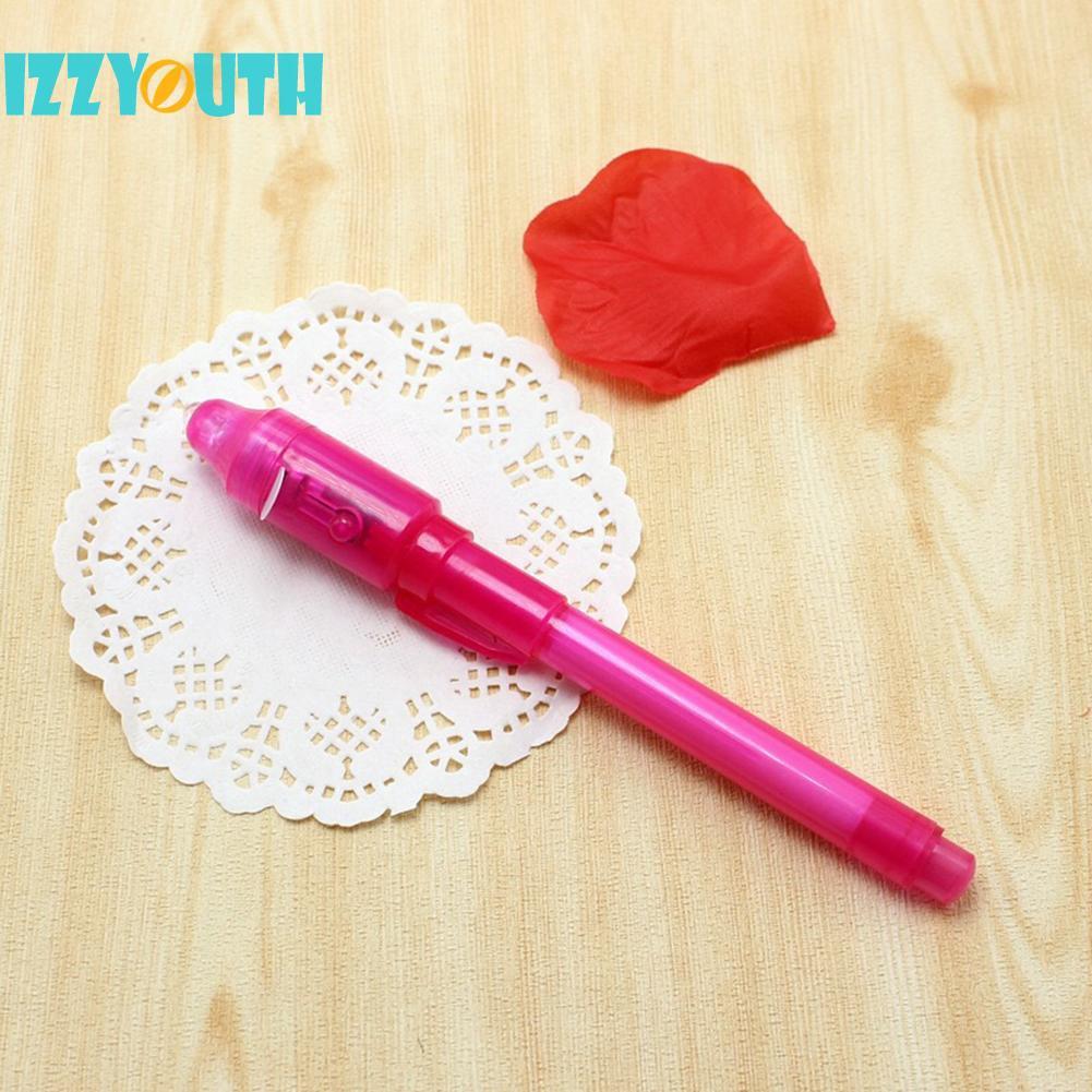 4//7pcs 2 in 1 Magic Luminous Light Pen UV Writing Invisible Ink Pen Kid Toy Neu