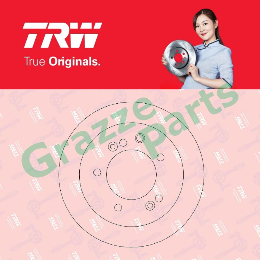 (2 pcs) TRW Disc Brake Rotor Front for DF4395 Kia Sorento JC