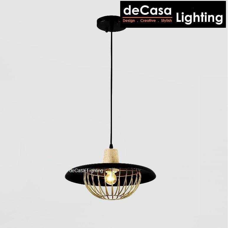 Pendant Light Black Gold Designer Best Seller Decorative Ceiling Light Decasa Iron Hanging Light Lampu Gantung (PX5239)