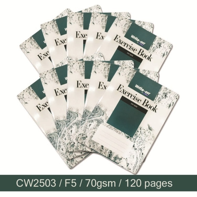 [10pcs] Campap Write-On CW2503 F5 / 70gsm / 120 pages Exercise Note Book