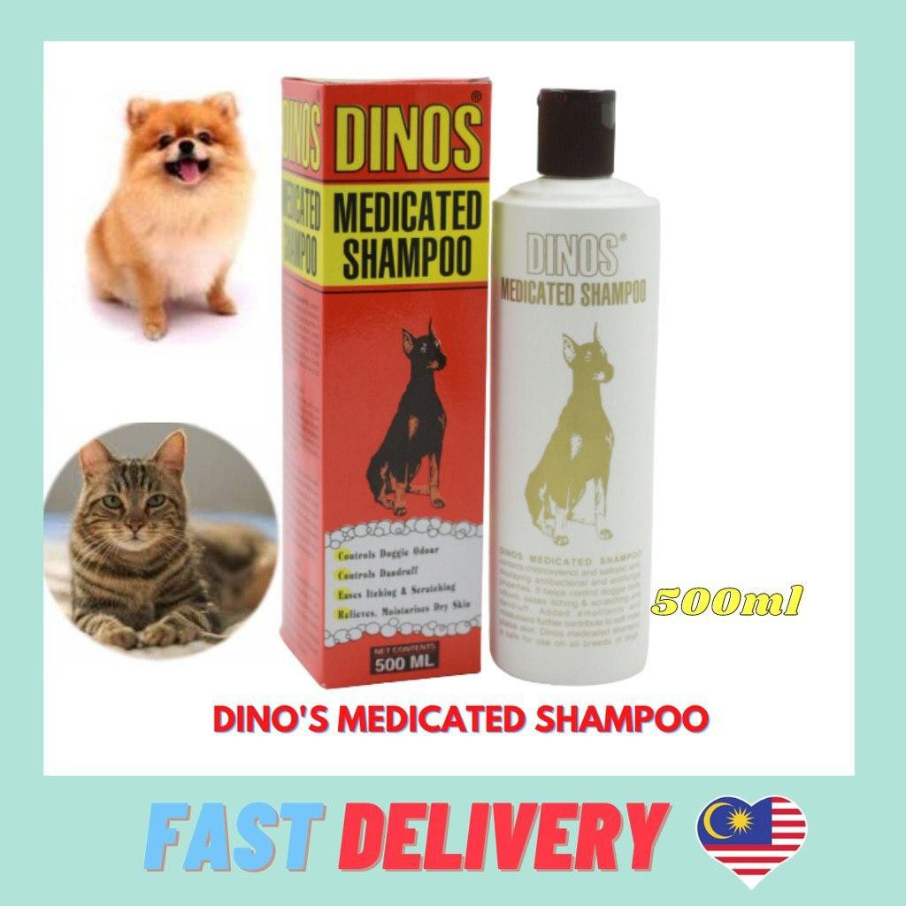 Dinos Medicated Shampoo for Dogs and Cats 500ml