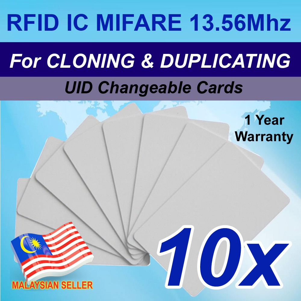 10 Cards- 13 56Mhz RFID IC Mifare Writable Clone Duplicating UID Changeable  Card