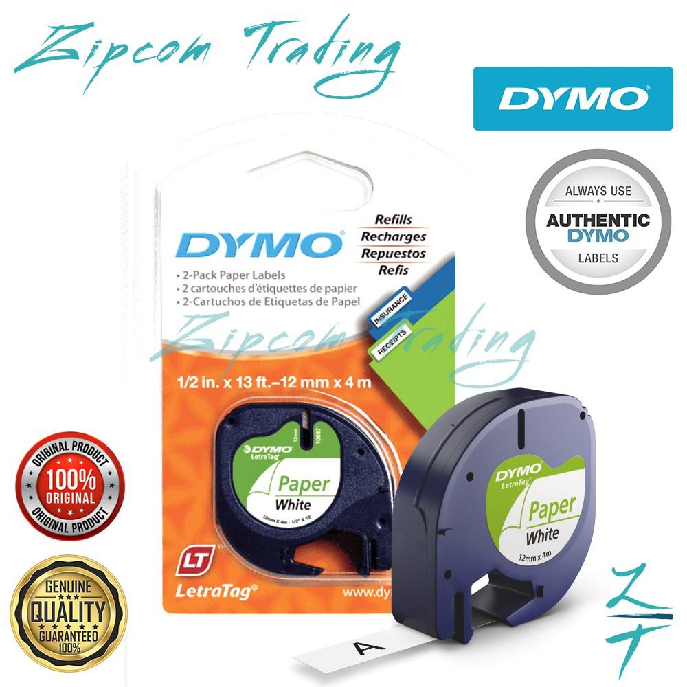 (ORIGINAL) DYMO Letratag Label Maker Tape (Paper White-12 mm x 4 m)