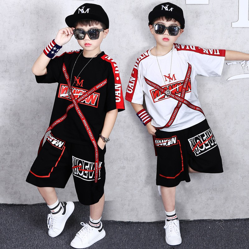 Children S Clothing Boy Summer Suit 2019 New 8 Children 9 Tide 10 Big Children 12 Two Piece Set 11 13 Years Old Summer