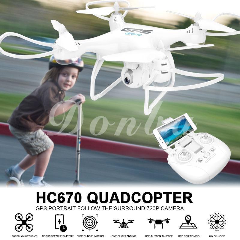 Ready Stock Don 720P Camera UAV Drone GPS 720P Camera Drone Funny