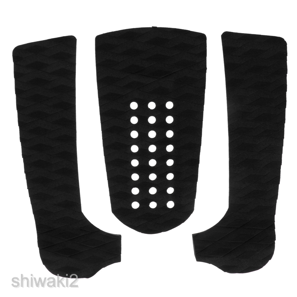 7 Pieces Black EVA Surfboard Kiteboard Surf Traction Pad Deck Grip Tail Pads