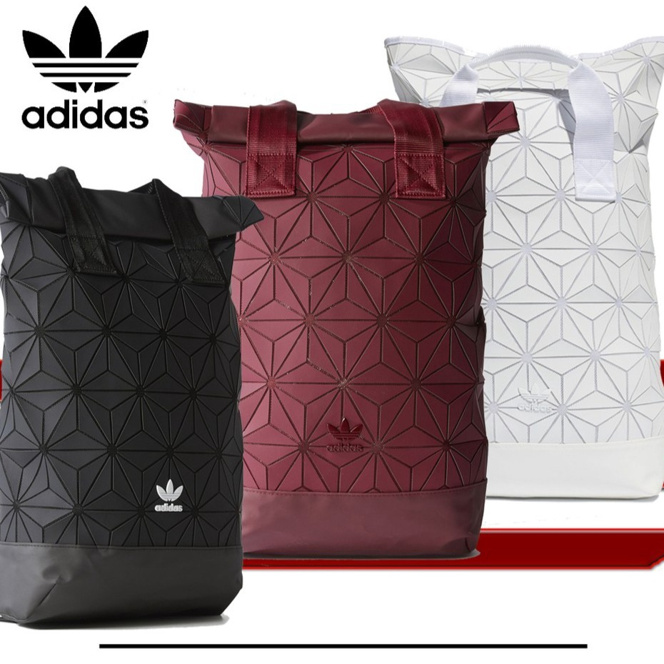 b1cc72630337 Adidas TREFOIL BACKPACK ROLL TOP 3D Backpack