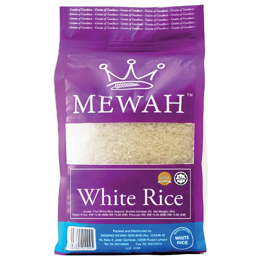 Mewah Thai White Rice 2kg
