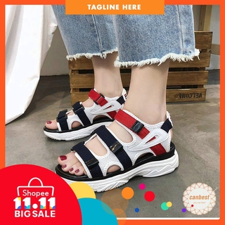 4ce9618ceb Original Fila Sandals Comfortable Non-slip Ins Flip Flop Thick Women Beach  Shoes
