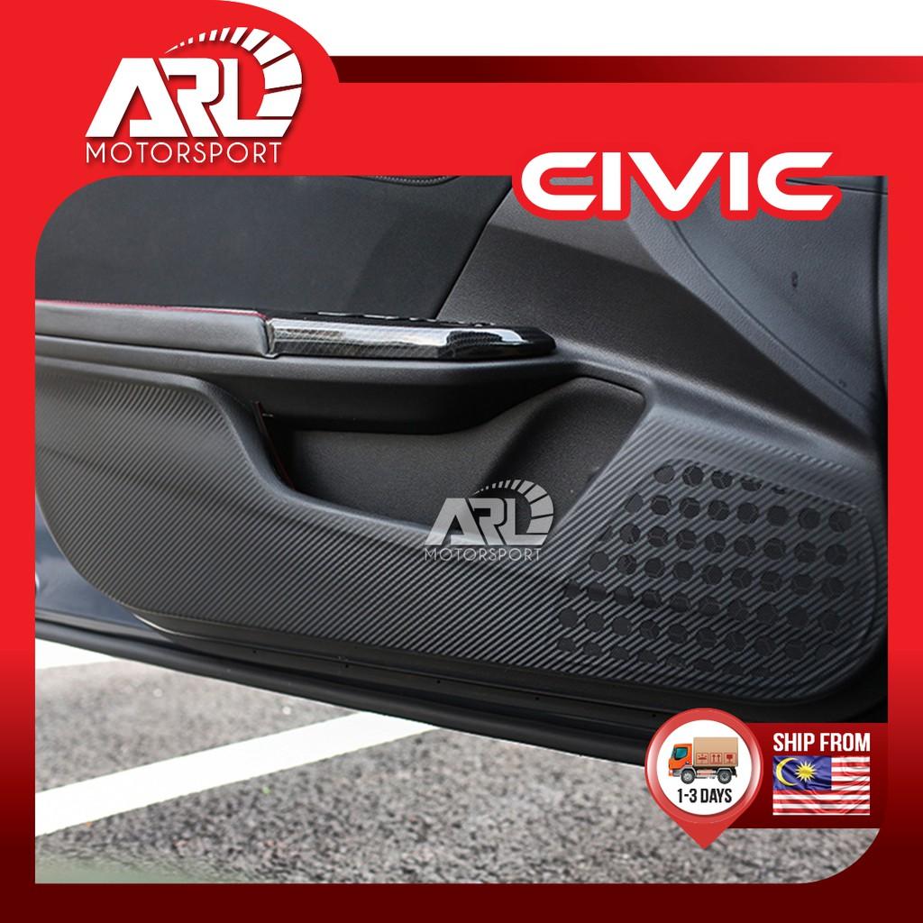 Honda Civic X (2016-2020) FC Door Panel Protector Sticker Carbon Fiber Design Car Auto Acccessories ARL Motorsport