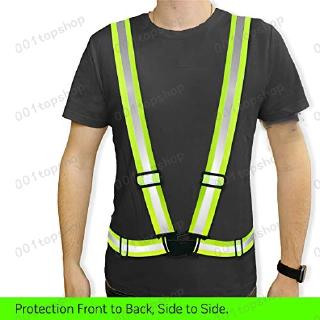 Motorcycle Jacket//Gear Adjustable /& Elastic Lightweight Cycling Jogging Safety Reflective Vest Sports Gear Walking Safety /& High Visibility for Running Fits Over Outdoor Clothing