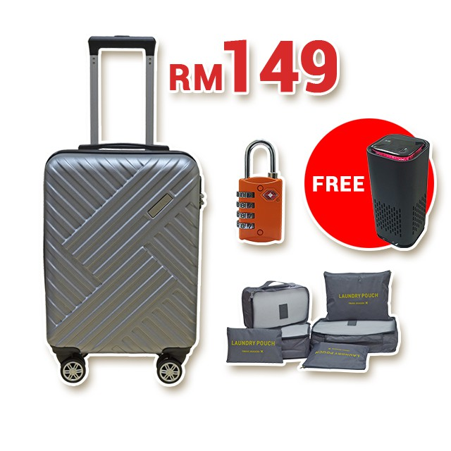 "Condotti Superlight PC/ABS Trolley 19"" Hard Case [ Free Air Purifier ]"