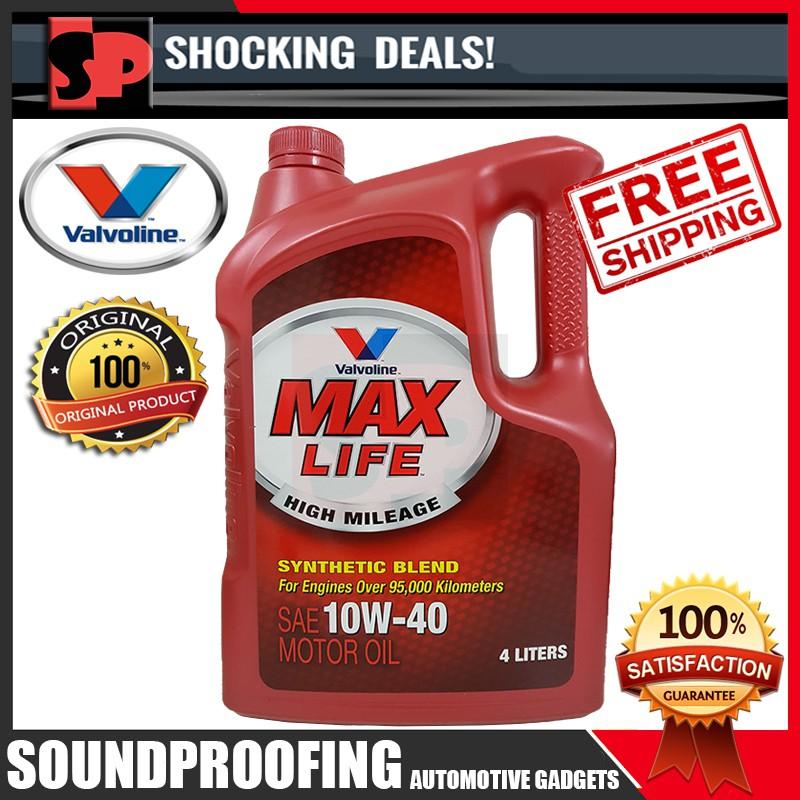Original Valvoline Max Life 10W40 Semi Synthetic Engine Oil [4Liter]