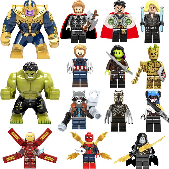 Wonder Woman DC Building Blocks Super Heroes Marvel Avangers Infinity War Thanos