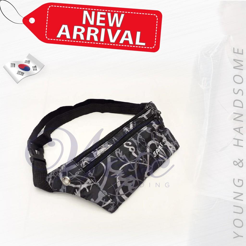 Korean Sport Fashion Waist/Chest Pouch (Black)