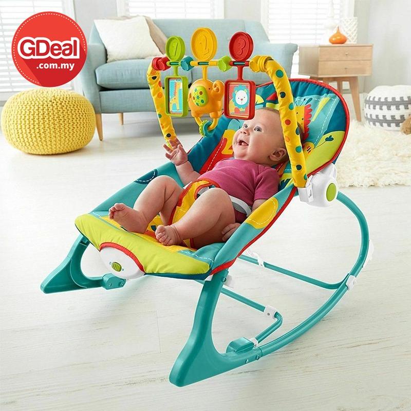 GDeal Baby Multi Functional Musical Shaker Newborn Rocking Chair Bouncer With Music Kerusi Bayi كروسي بايي