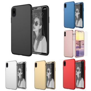 online retailer 89a89 75f2b iPhone 6 6x 7 8 Plus X Casing Luxury 360 Degree Shockproof PC Hard Full  Cover