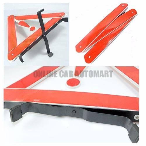 Early Warning Road Safety Triangle Kit,Reflective,Auto Emergency Foldable Reflective Safety Sign Roadside Hazard Symbol