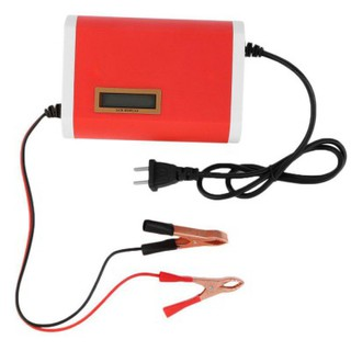 12v 6a Portable Car Motorcycle Lead Acid Battery Charger Lcd Display