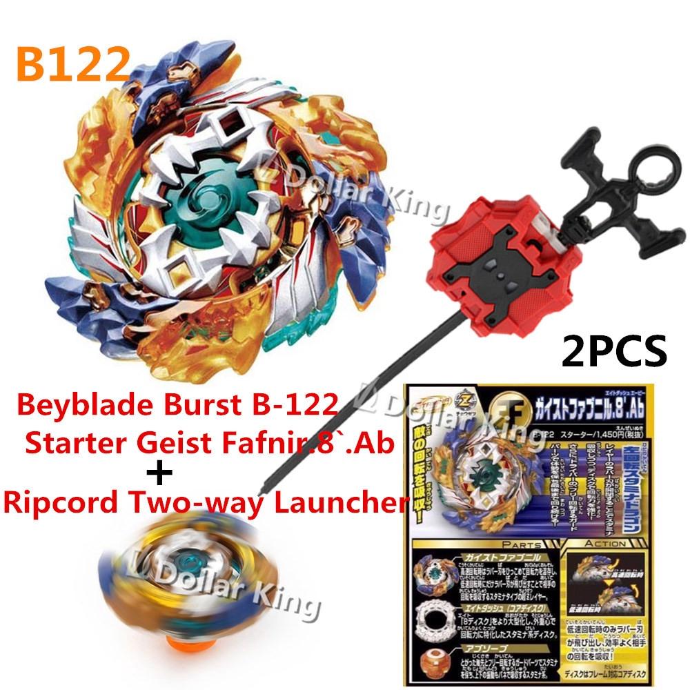Beyblade Burst B-122 Starter Geist Fafnir B122 w// With B-88 Launcher Grip Gift