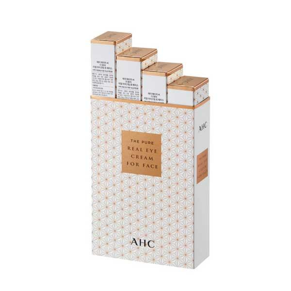 A.H.C. The Pure Real Eye Cream For Face อายครีมทาได้ทั่วทั้งใบหน้า ลดริ้วรอย ผิวดูกระจ่างใส (บรรจุ 4 ชิ้น)