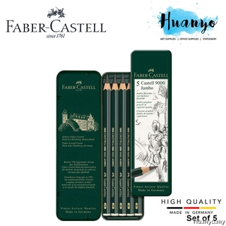 3 x Faber Castell 9000 Jumbo Graphite Pencils 5.3mm Artists Drawing Sketching